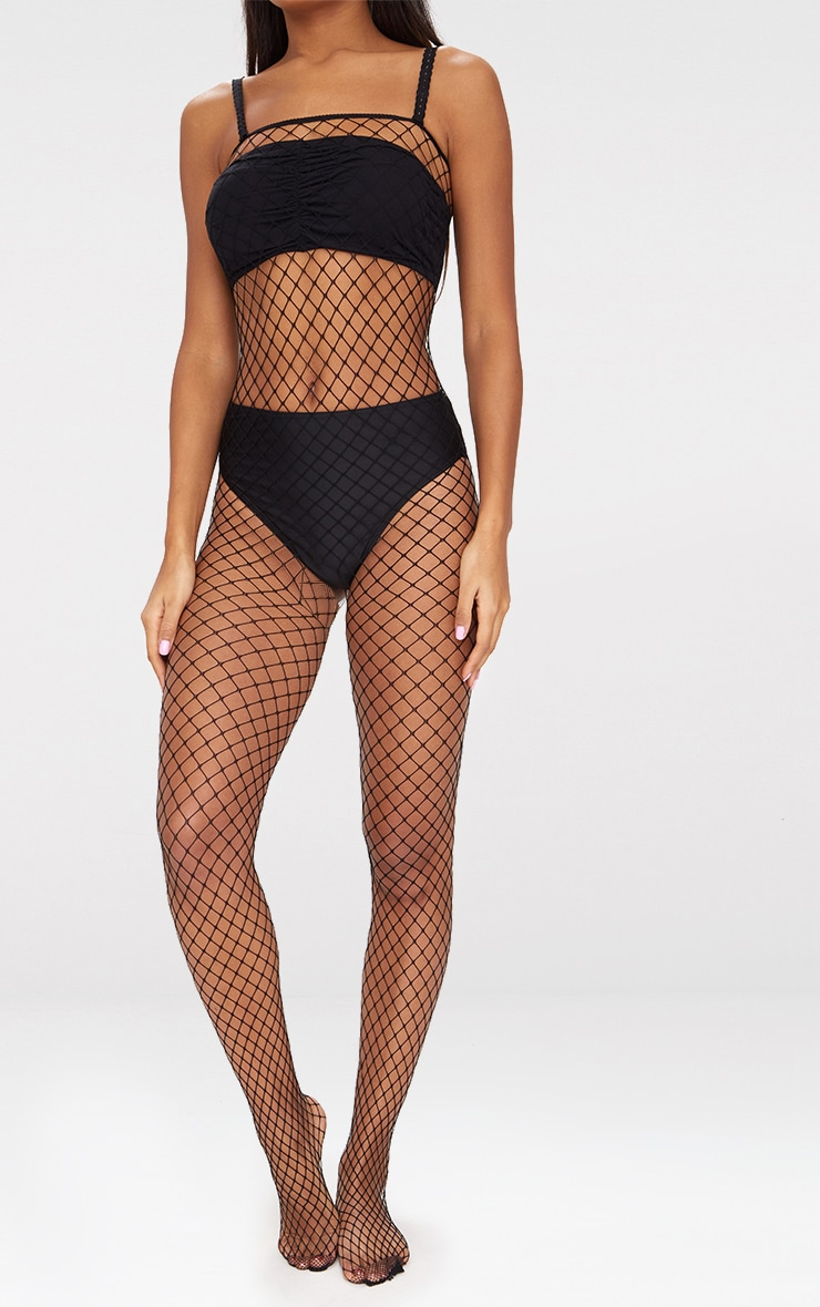Black Fishnet All In One Body Stocking 2