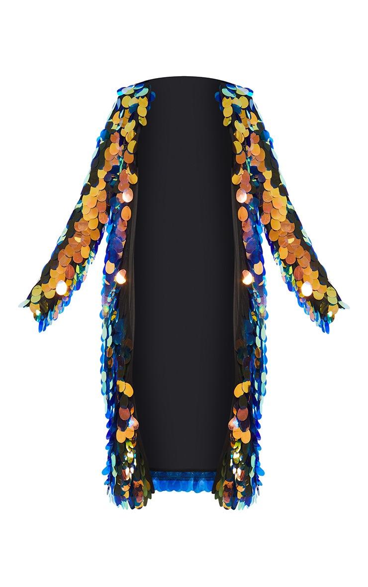 Multi Iridescent Sequin Midi Kimono 3