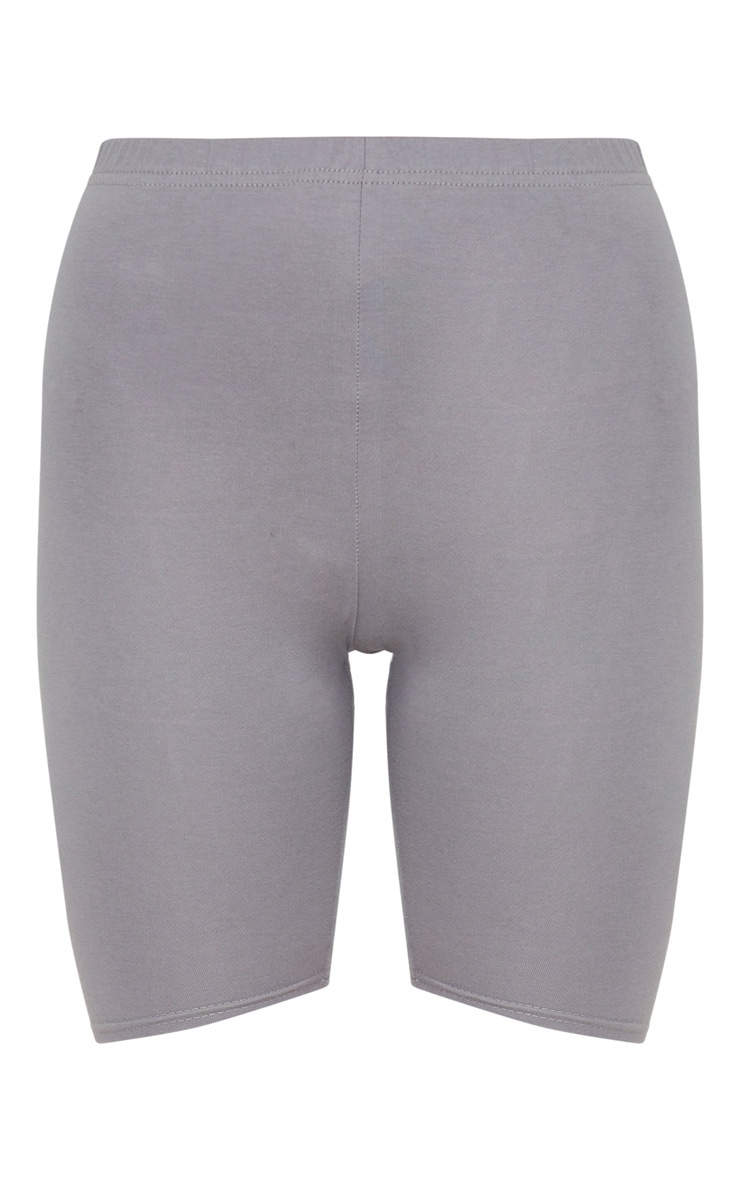 Charcoal Grey Basic Bike Shorts 3