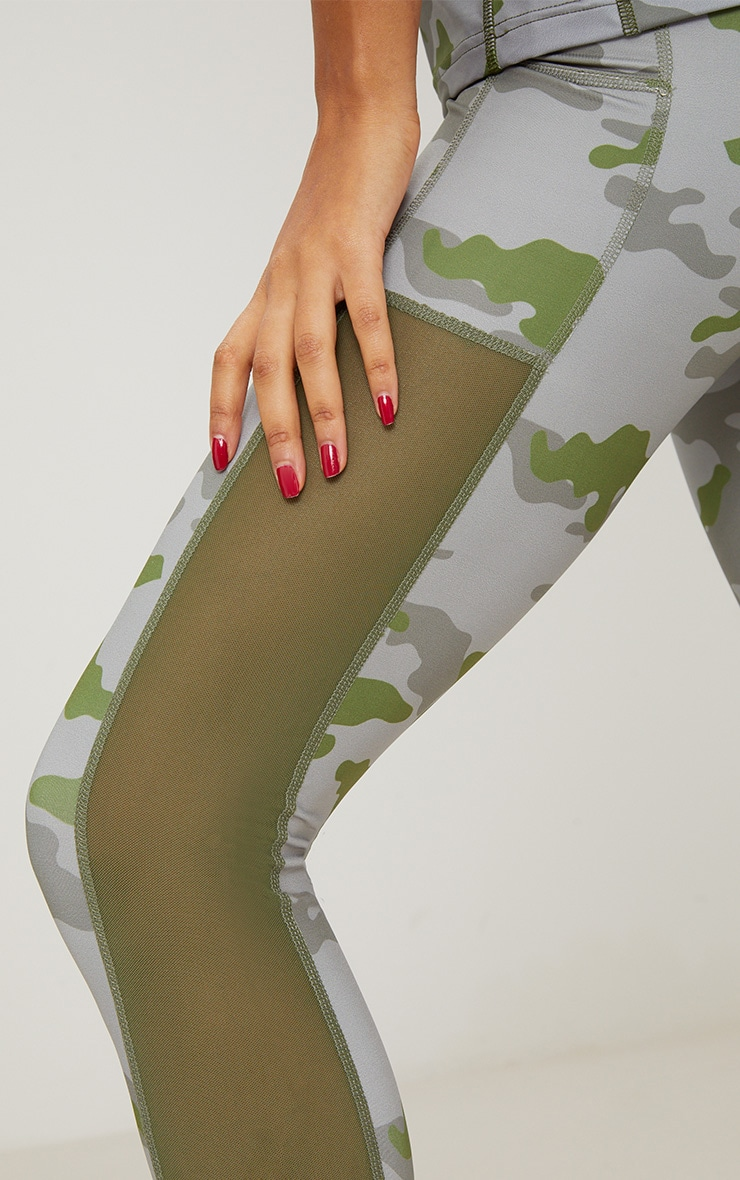 Khaki Camo Sports Leggings 5