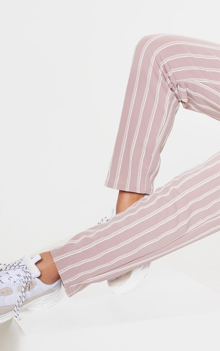 Lilac Stripe Print Cigarette Pants 5