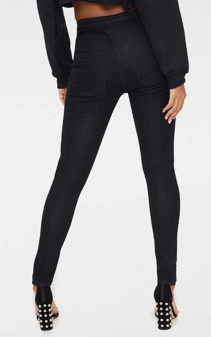 Washed  Black Disco Skinny Jean 4