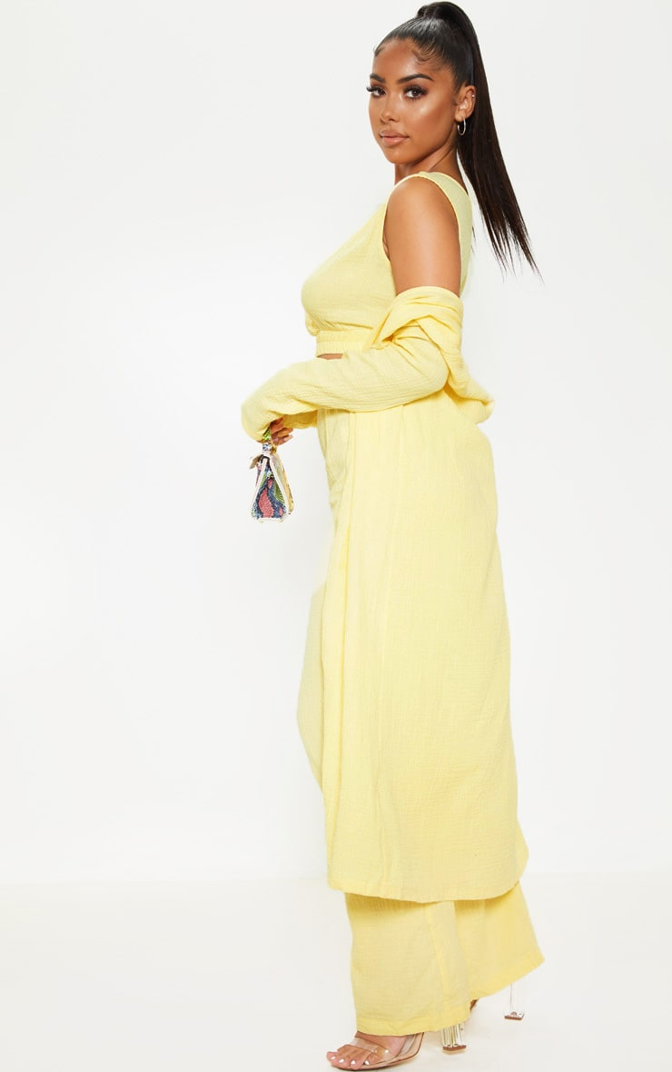 Petite Lemon Woven Longline Duster Jacket 4