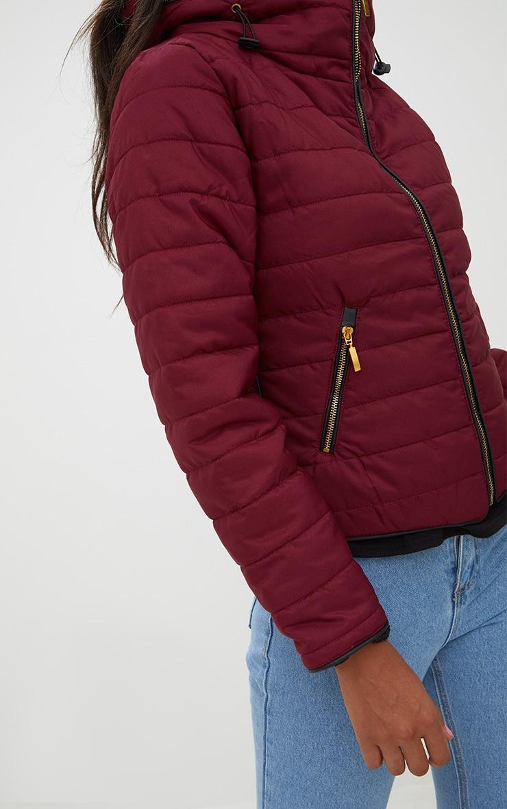 Mara Burgundy Puffer Jacket 4