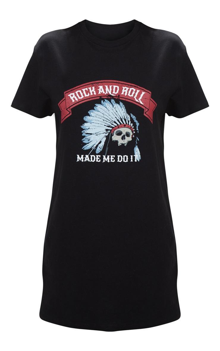 Black Rock And Roll T Shirt Dress 3
