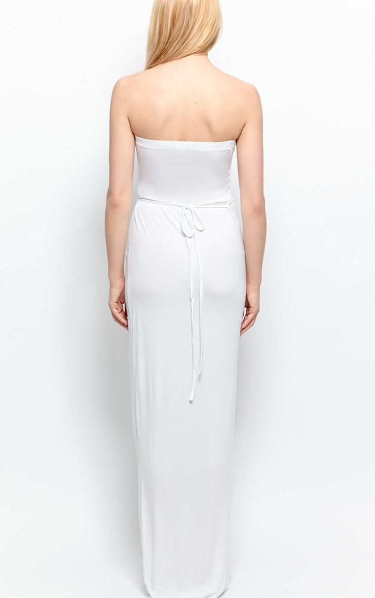 Albany White Bandeau Maxi Dress 2