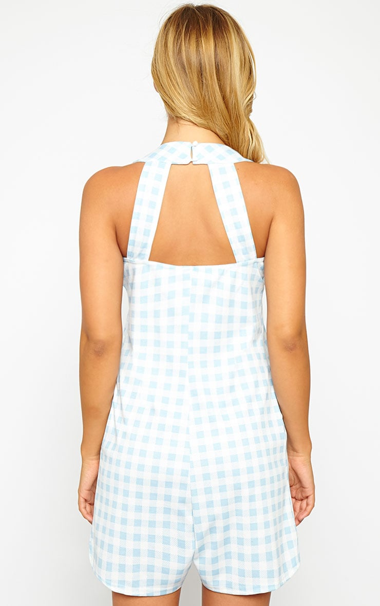Tammie Baby Blue Gingham Playsuit 2