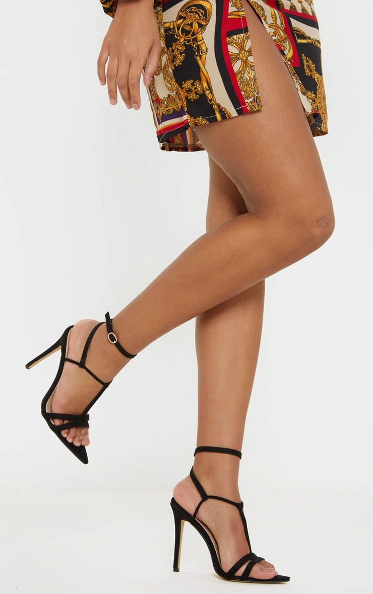 Sandales pointues noires à détail noeud 1
