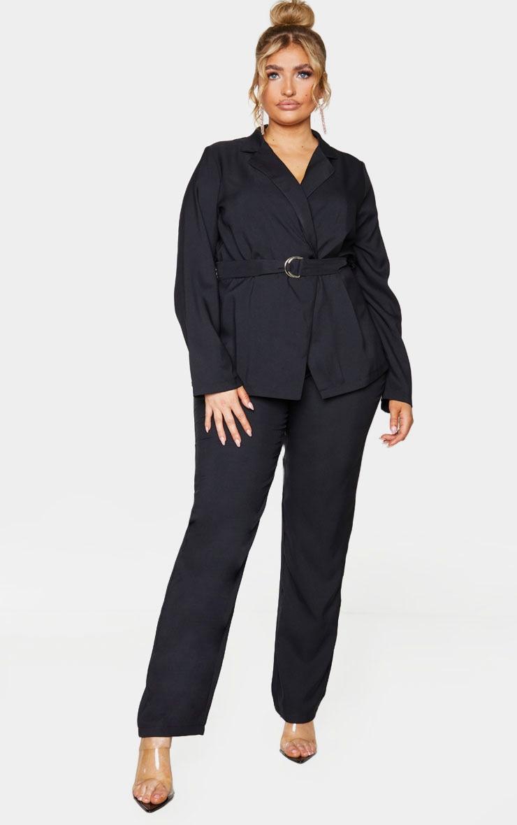 PLT Plus - Pantalon droit en fuseau noir  1
