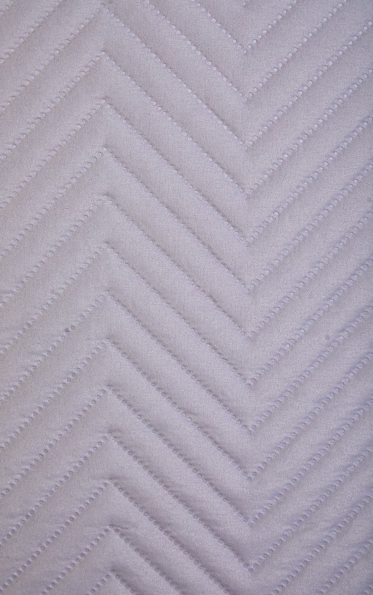 Silver Chevron All Over Pinsonic Double Duvet Set 4