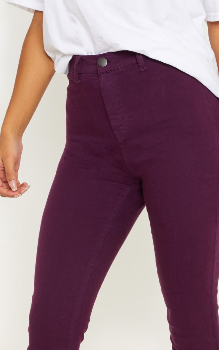 Purple Disco Fit Skinny Jean 5