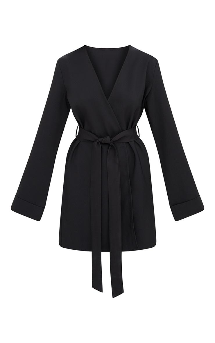 Black Oversized Longline Blazer 3