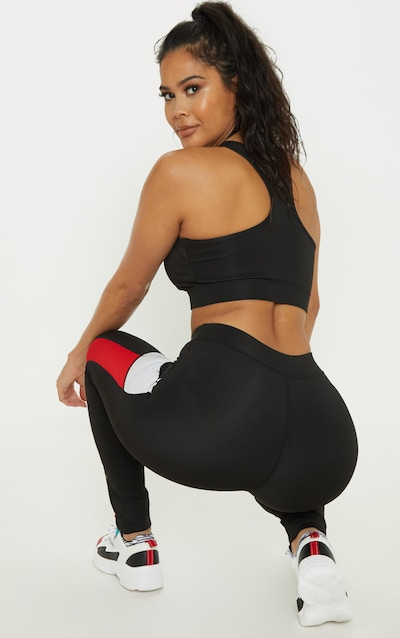 Black Cross Strap Sports Bra