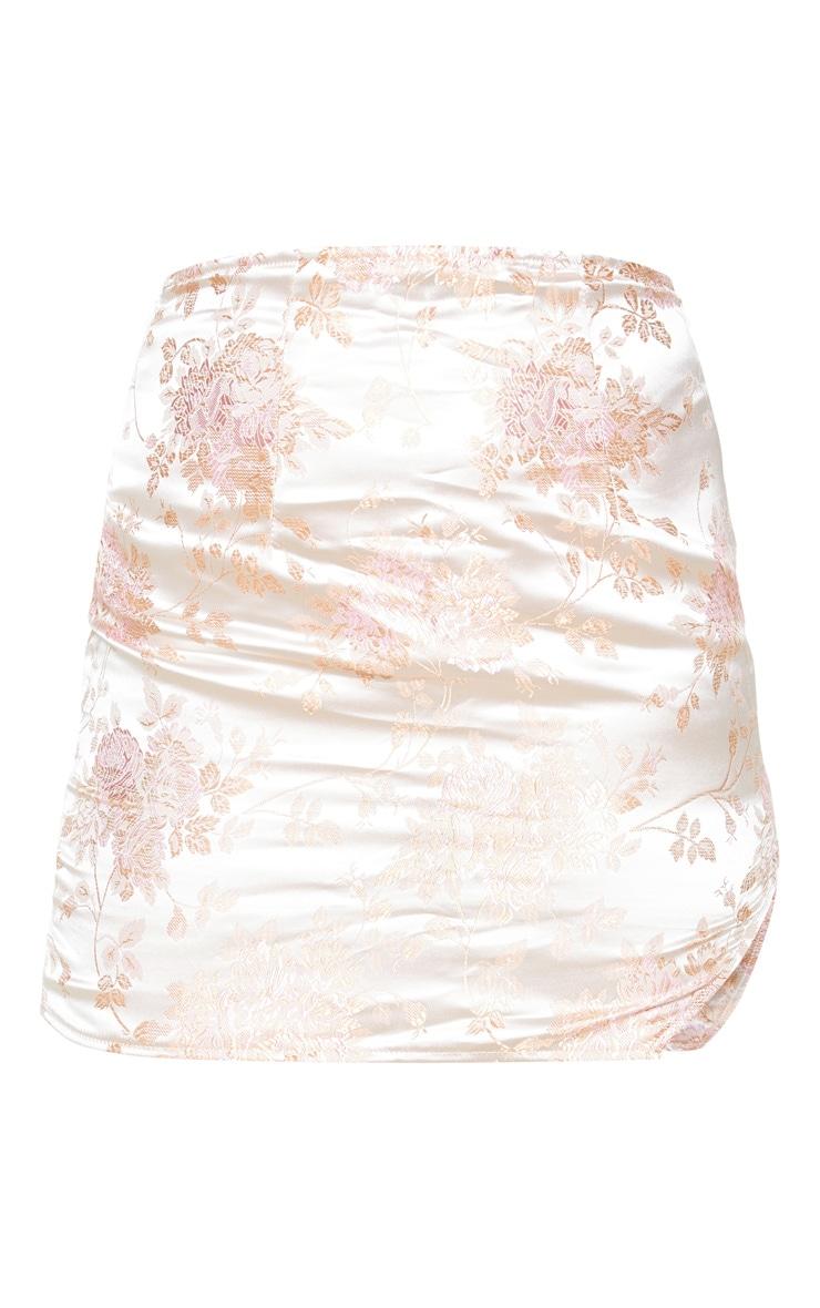 Pink Oriental Print Mini Skirt 3
