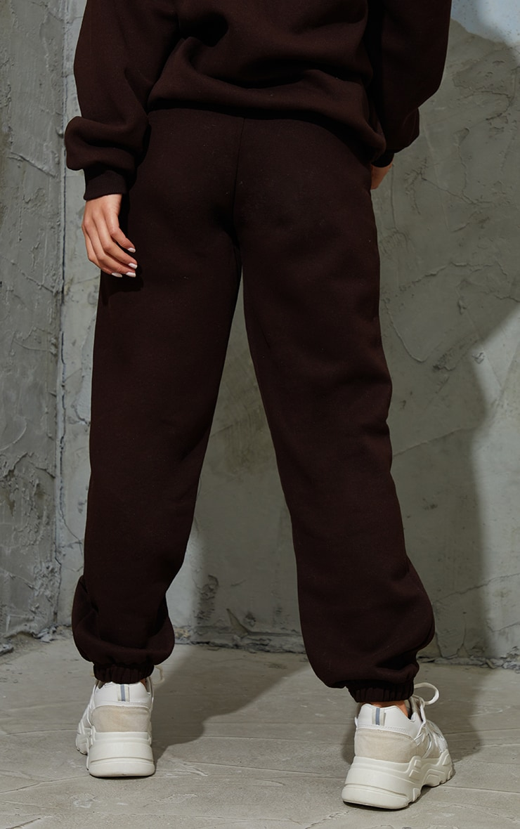 Petite Chocolate Brown Pocket Thigh Casual Joggers 3