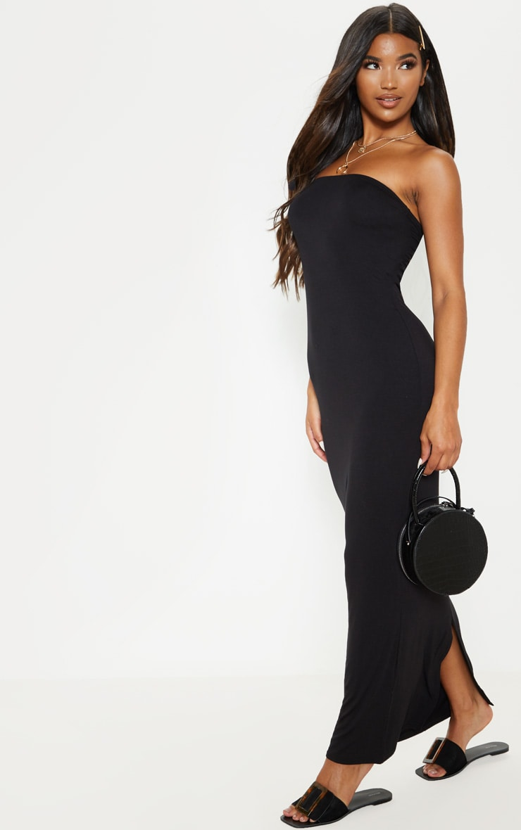 Black Bandeau Maxi Dress 4