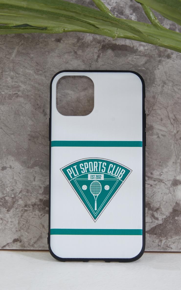 PRETTYLITTLETHING White Tennis Club iPhone X/XS/11 Pro Case 1