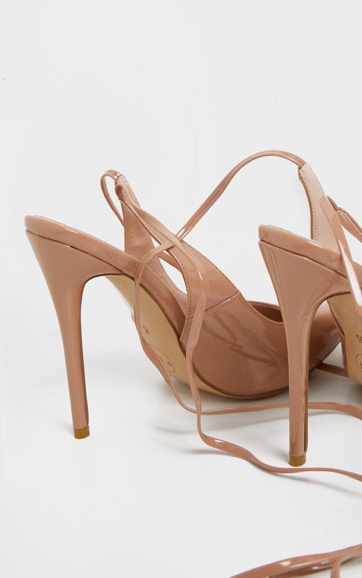NudeAnkle Tie Court Shoe 4
