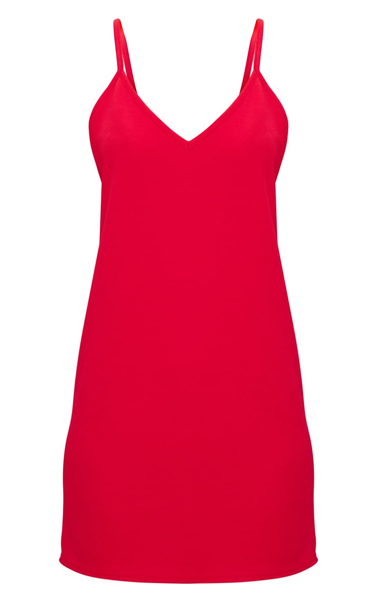 Red Strappy Detail Backless Cami Dress 3