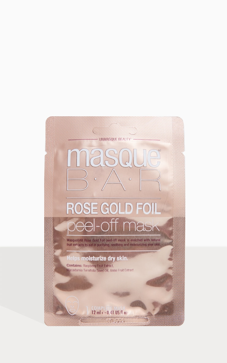 MasqueBAR Rose Gold Peel Off Mask 1