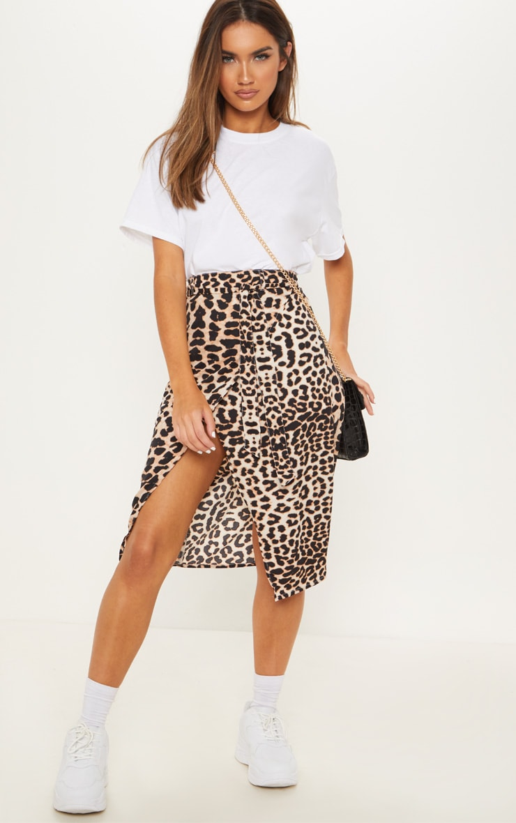 Leopard Print Belted Wrap Midi Skirt image 1 ffb92b4d51d
