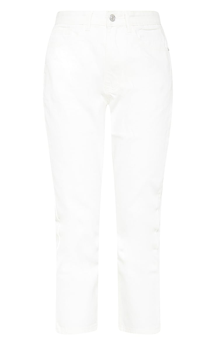 Cropped White Mom Jeans 3