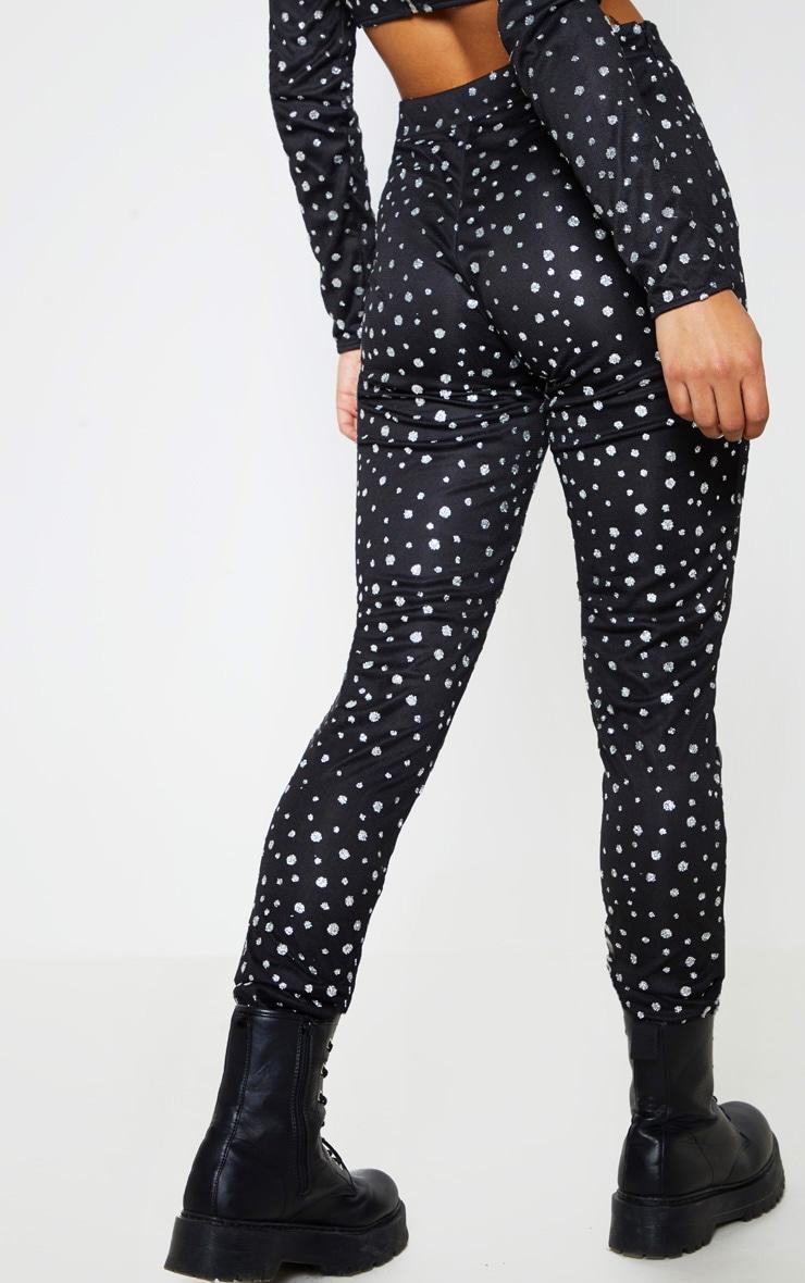 Black High Waisted Glitter Mesh Trouser 5