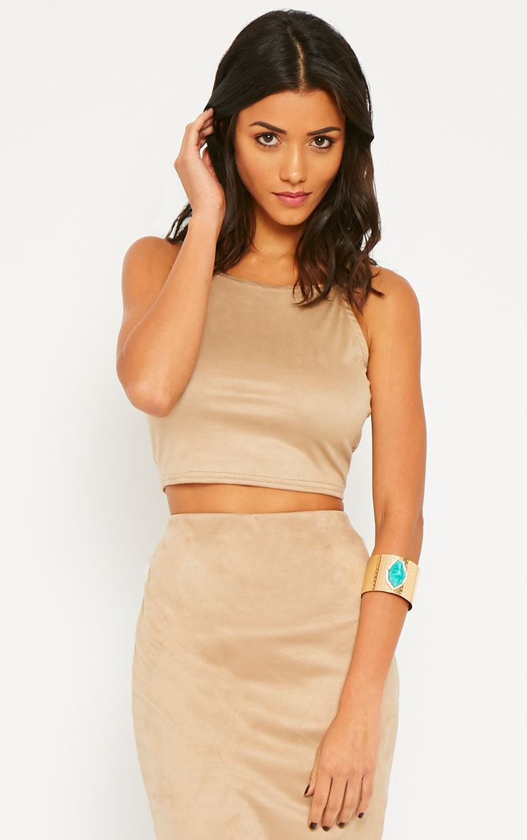 Amanda Stone Suede Crop Top 1