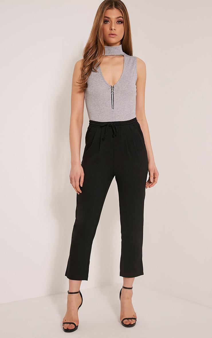 Diya Black Cropped Pants 1