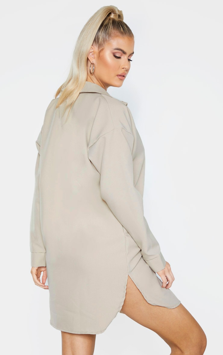 Tall Stone Pocket Detail Oversized Shirt Dress 2
