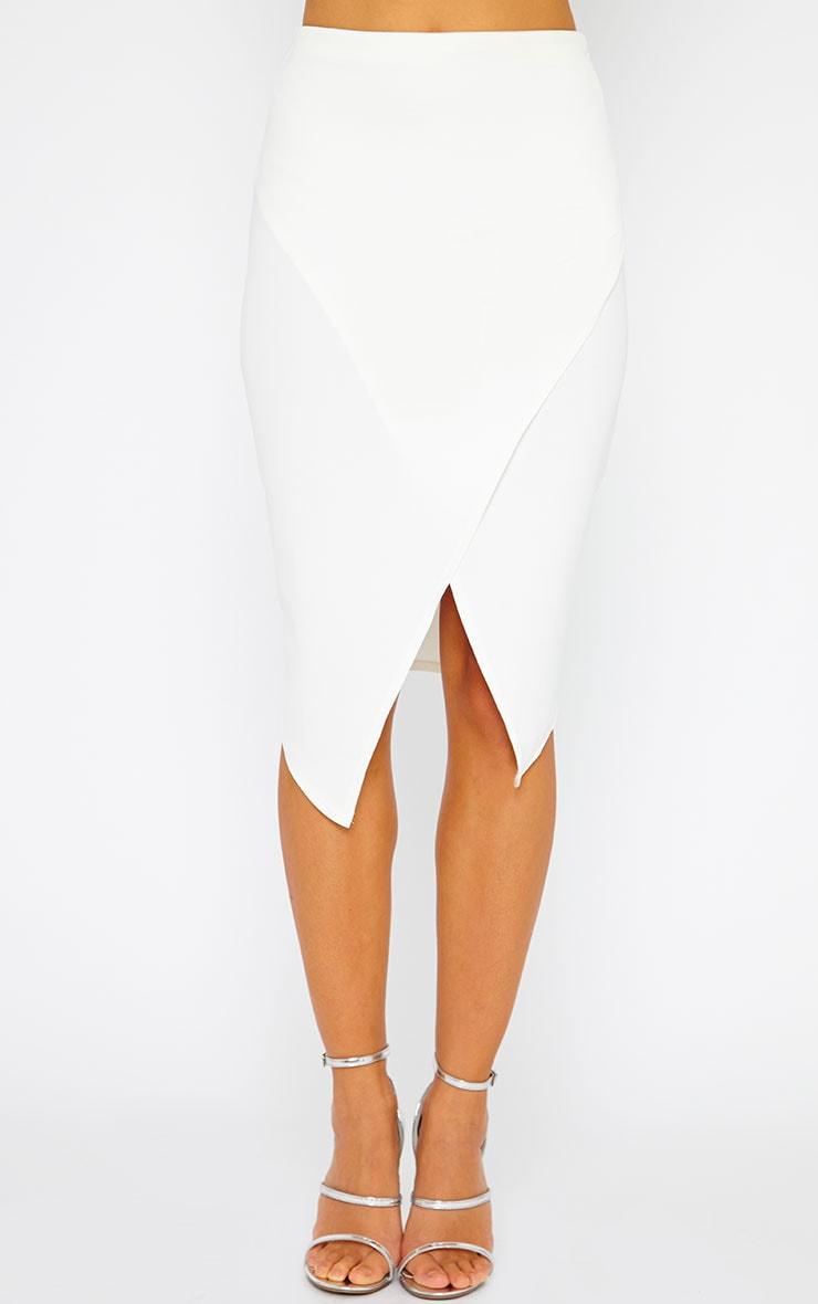 Lia Cream Wrap Midi Skirt 2
