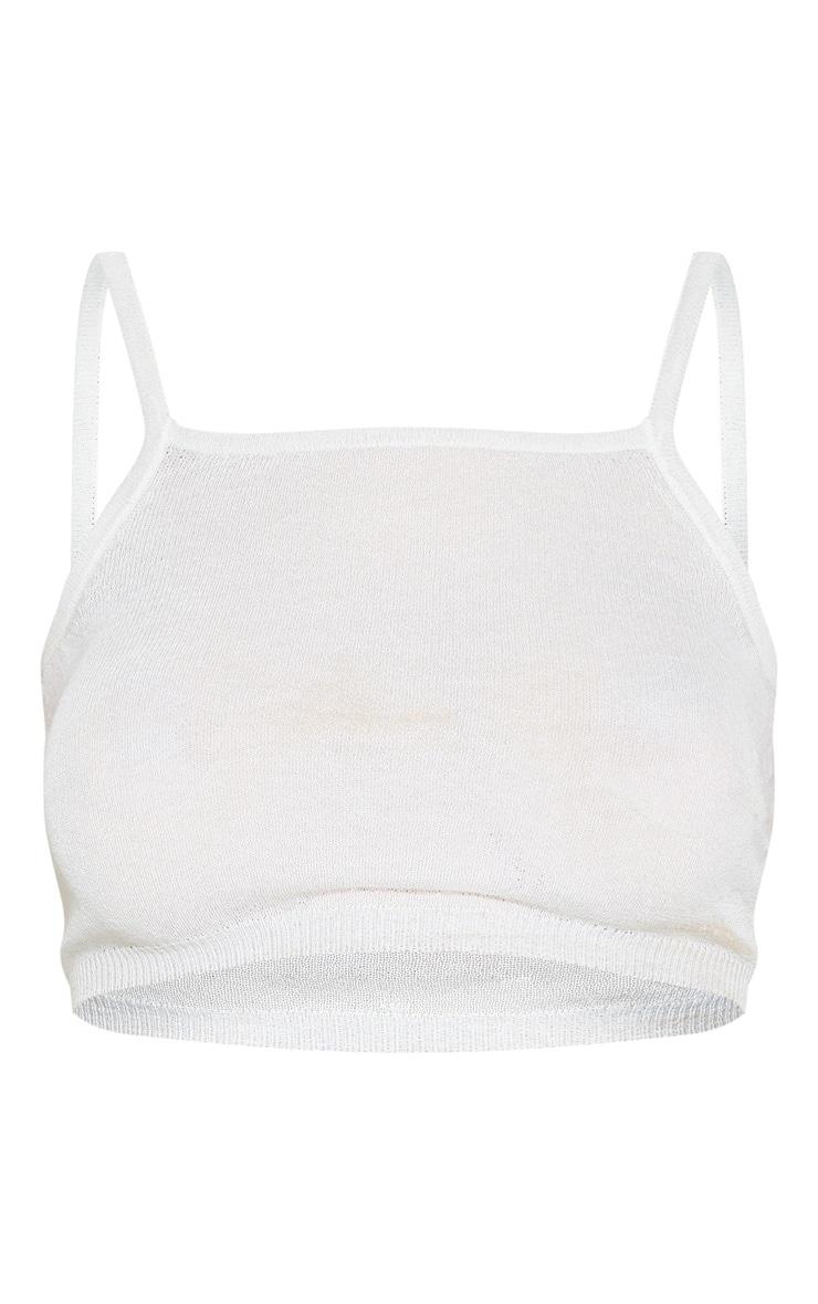 Cream Knitted Sheer Vest  3