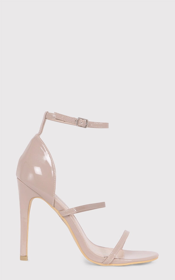 Amelia Nude Patent Strappy Heeled Sandals 2