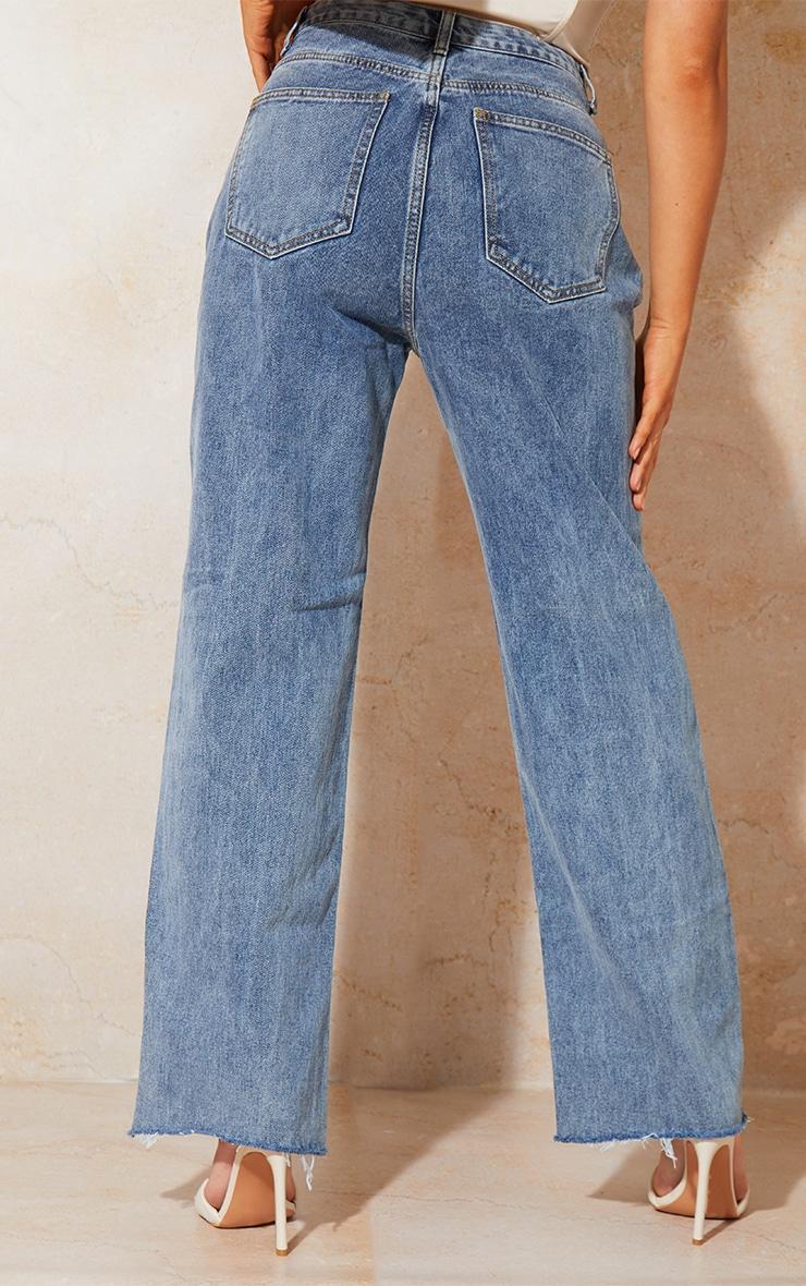 Vintage Wash Seam Pocket Detail Mom Jeans 3