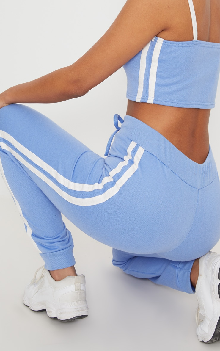 Baby Blue Contrast Stripe Joggers 6