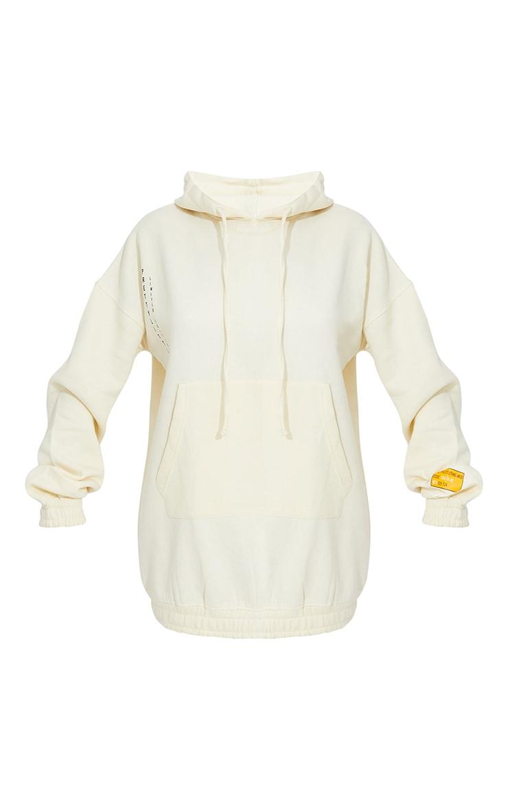 Cream Limited Edition Slogan Hoodie Sweater Dress 5