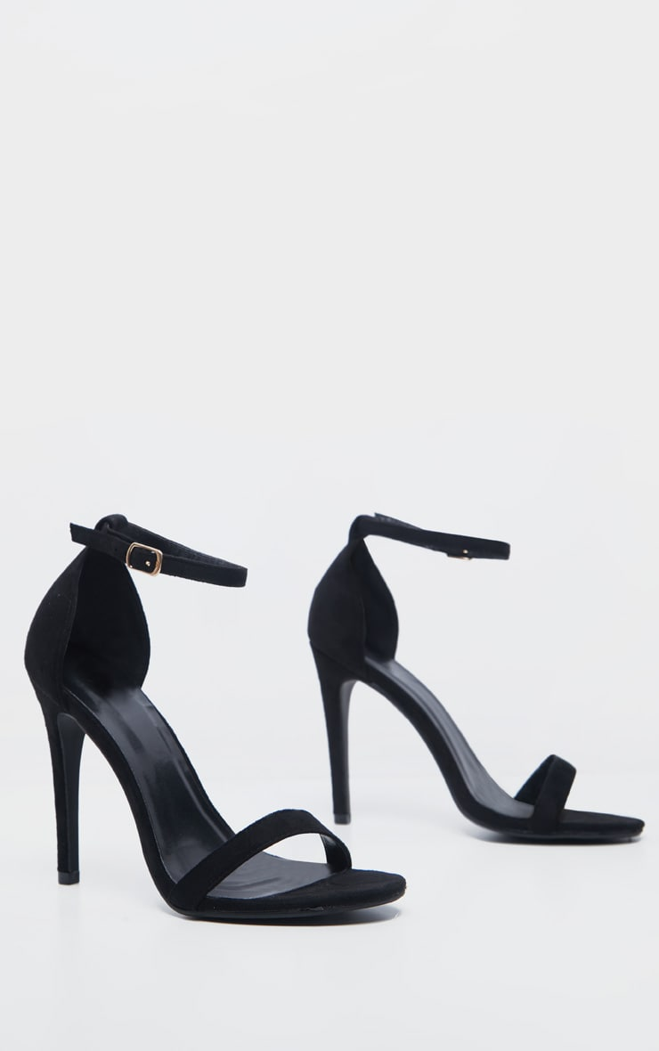 Clover Black Strap Heeled Sandals 4