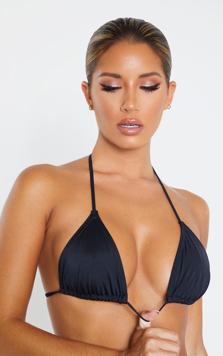 Black Recycled Mix & Match Triangle Bikini Top 5