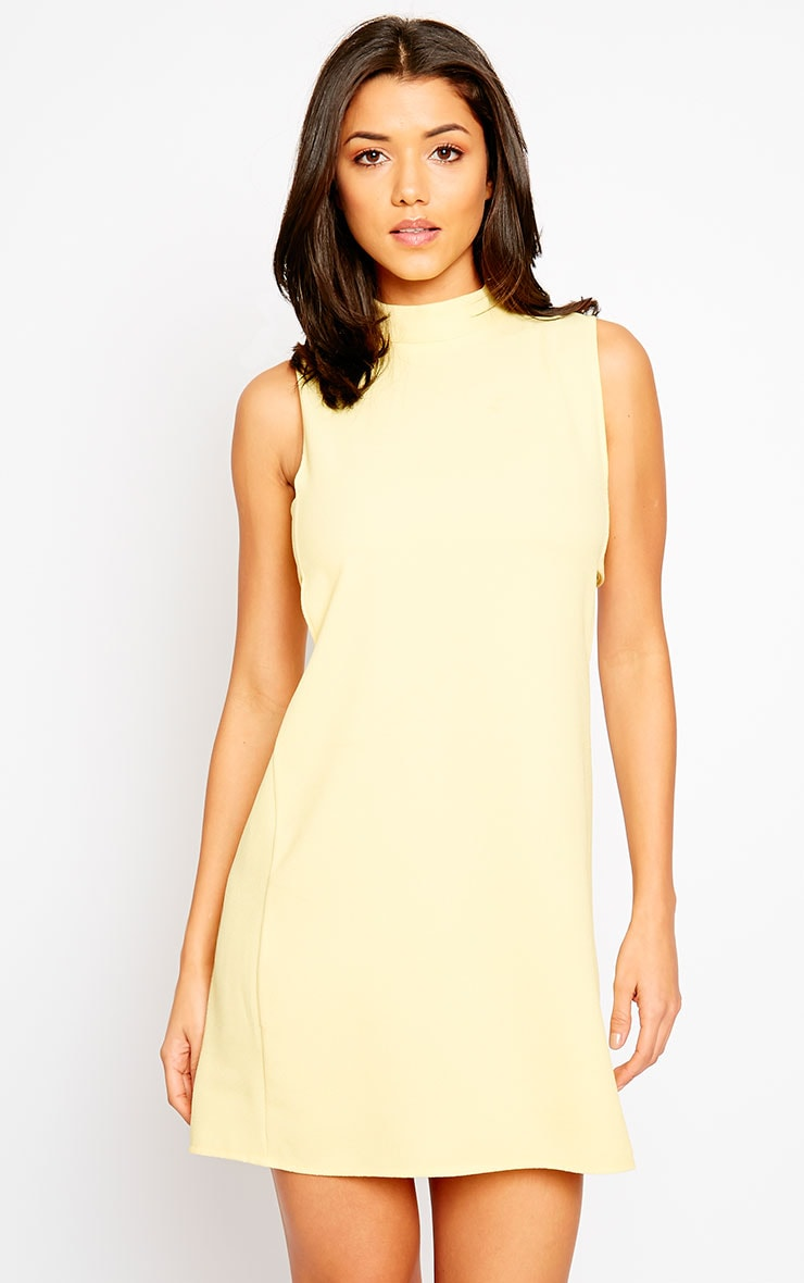 Rina Yellow Cut Out Tabard Dress 4