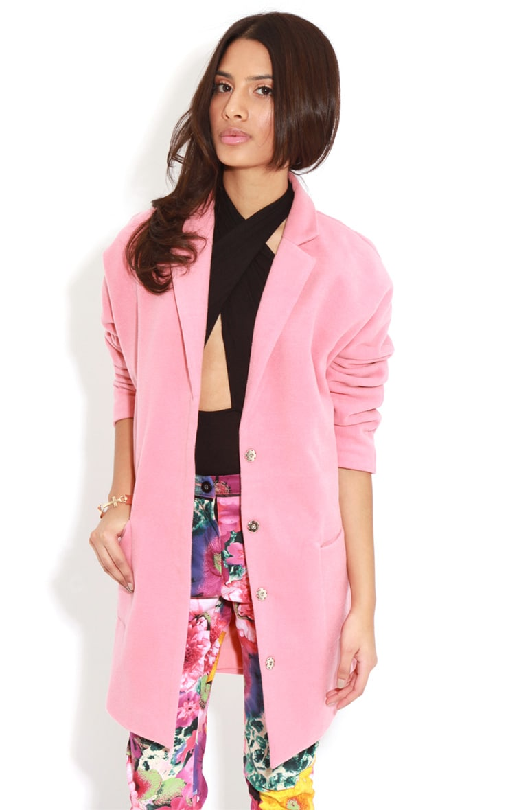 Hope Coral Oversized Boyfriend Blazer Coat  3