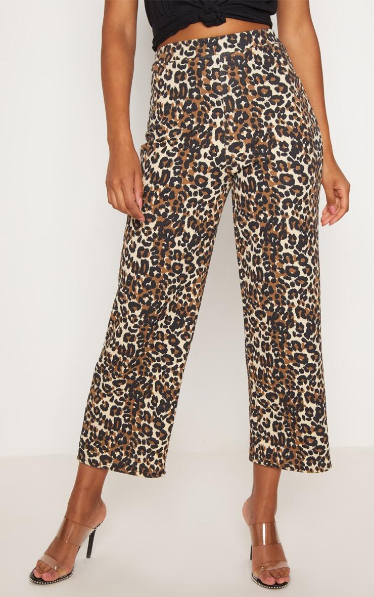 Tan Leopard Print Culotte 2