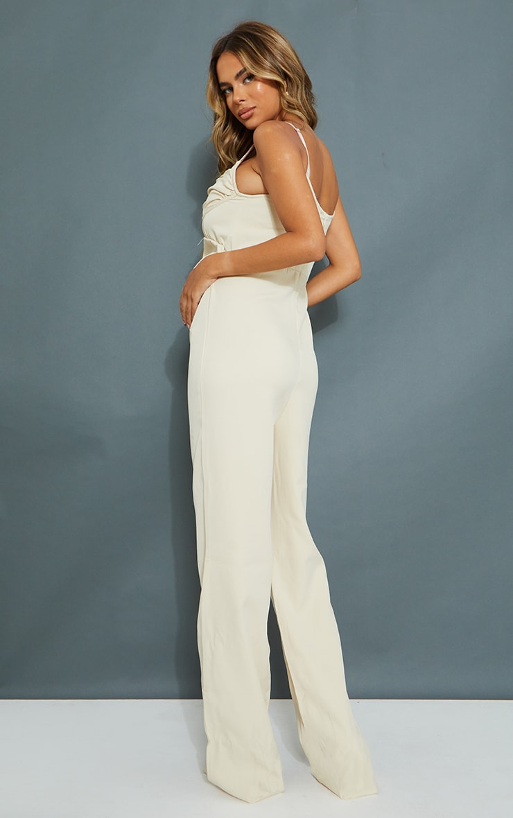 Maternity Stone Tailored Strappy Jumpsuit 2