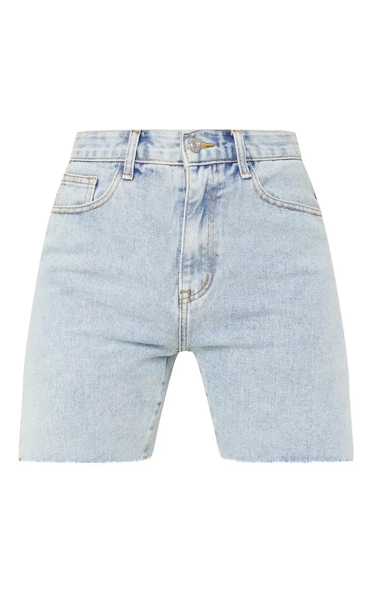 Vintage Wash Longline Split Hem Detail Shorts 6