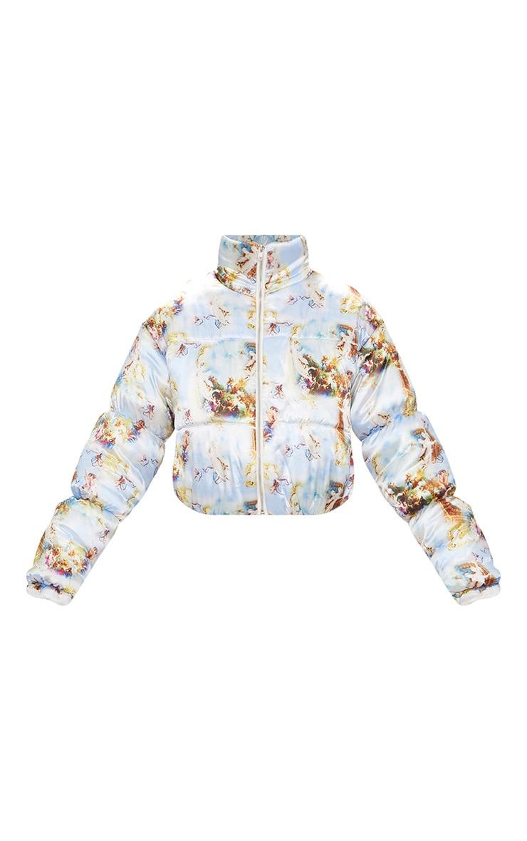 Renaissance Printed Satin Puffer Jacket 3