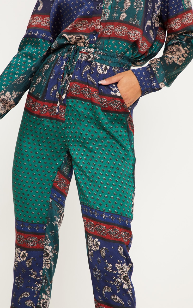 Multi Paisley Print Cigarette Pants 5
