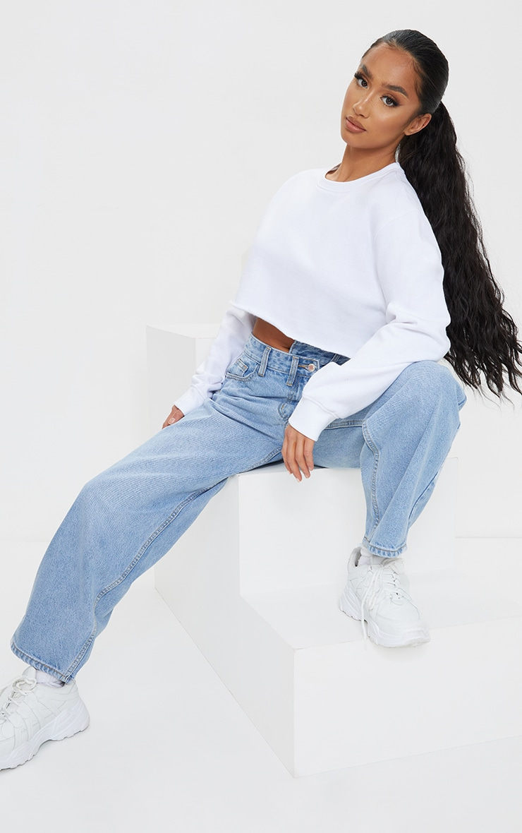 Petite White Ultimate Cropped Sweater 3