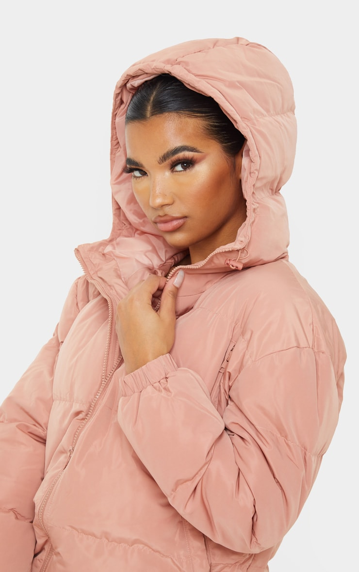 Rose Puffer Contrast Hooded Jacket 5