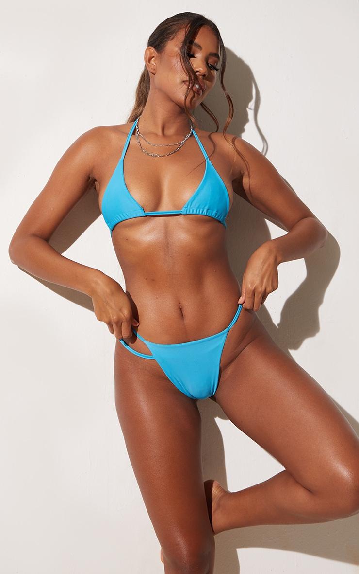 Blue Triangle Bikini Top 1