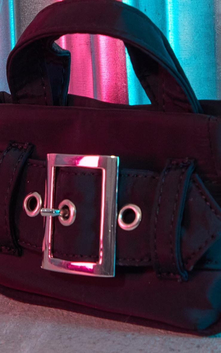 Black Buckle Detail Mini Bag 4