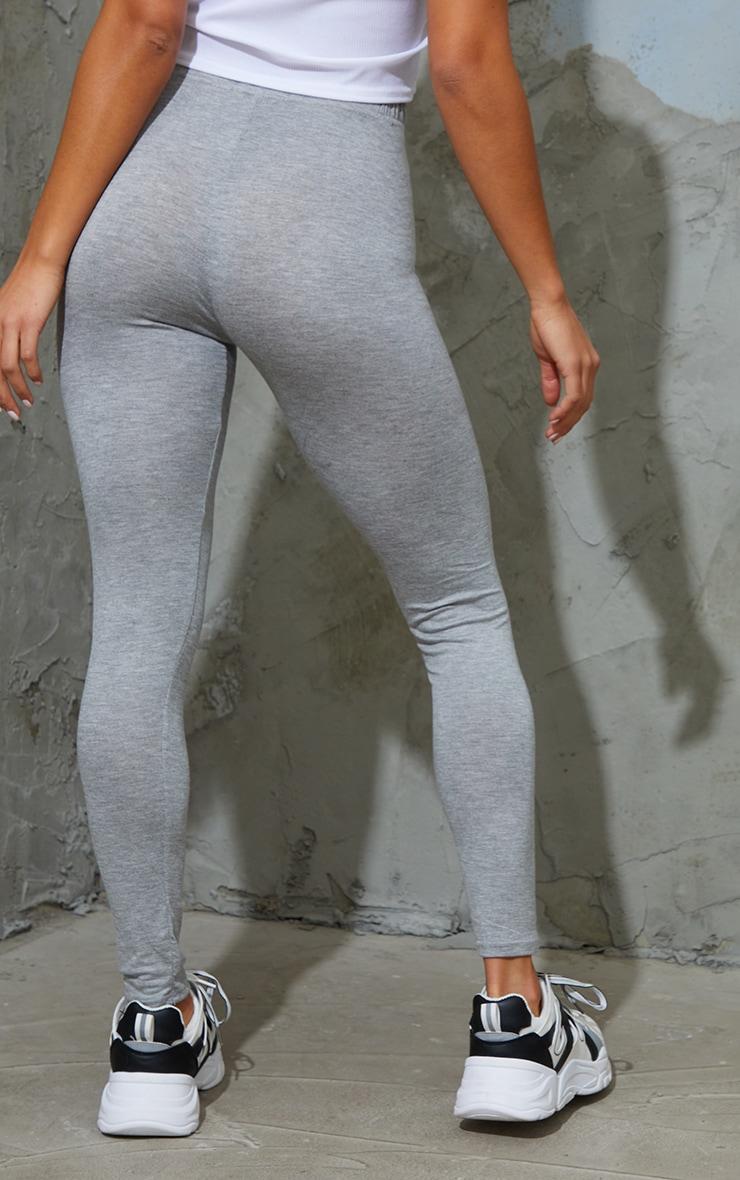 Petite Clarinda Grey Basic Leggings 3